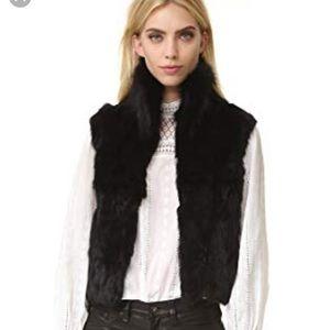 Andrienne Landau Rabbit fur vest size s 😍